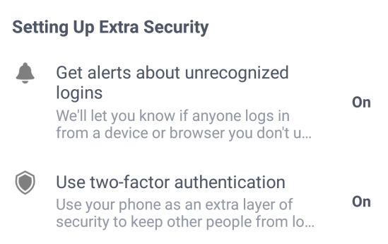 facebook two-factor-authentication
