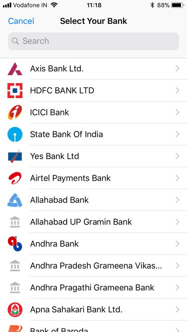 whatsapp upi bank