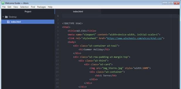open html editor - atom