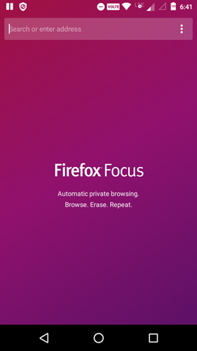 open source android browser - firefox focus