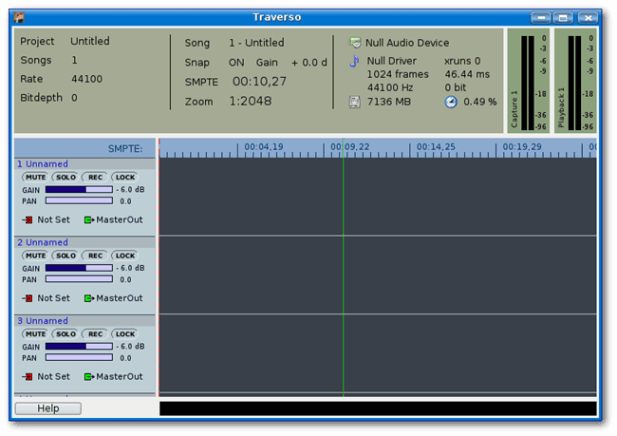 open source audio editors - Traverso DAW