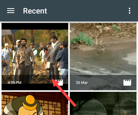 remove audio from video - select video