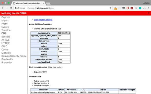 Chrome DNS