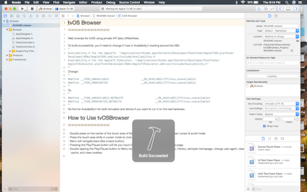 click on built option on xcode