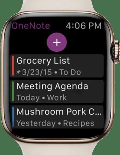 one note app screenshot