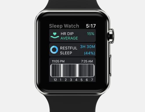 bar graph apple watch sleep tracker app