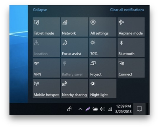 notification button windows How To Cast To Roku From Android, PC and Mac