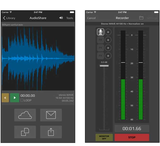audio share app for iphone