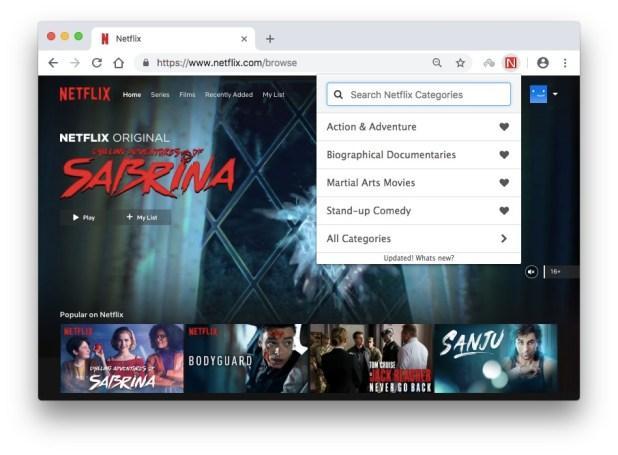 Netflix Secret Category