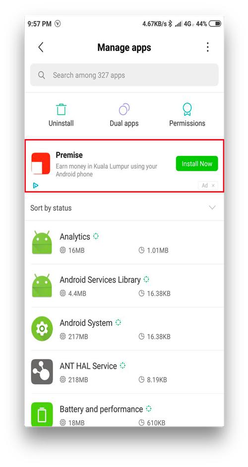 MIUI vs Stock Android- bloatware ads