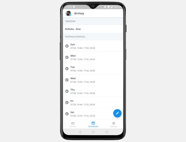 automate text messages- buffer
