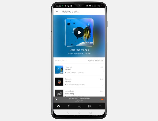 free music streaming apps- soundcloud