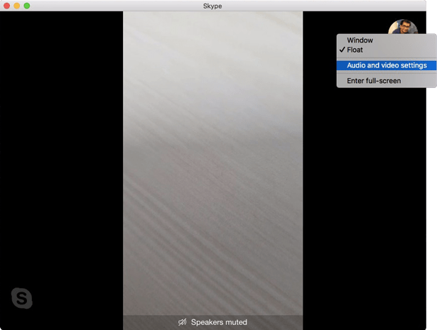 get blur mode on skype- audio and video settings