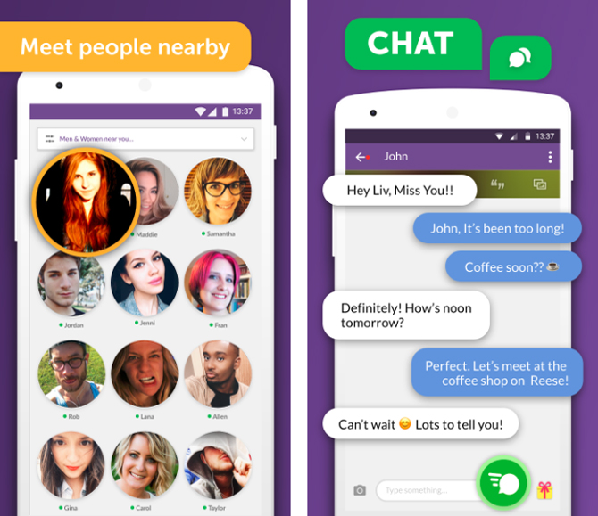 anonymous chat apps- meetme app screenshot