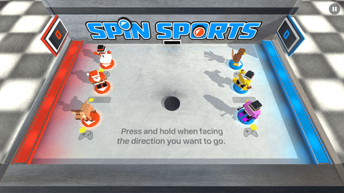 best apple tv games- spin sports