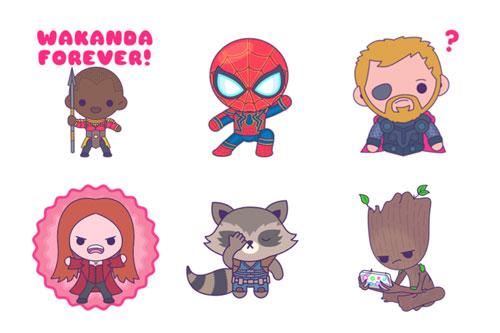 avengers stickers cute