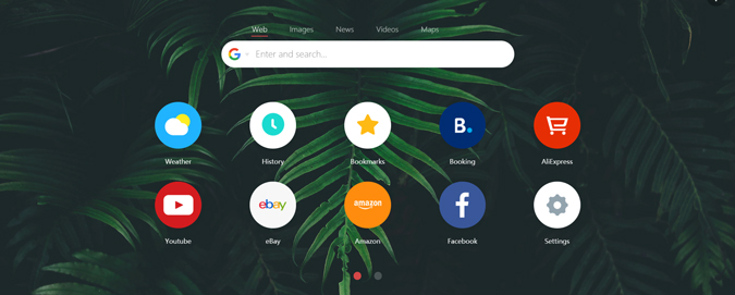 home page set to google