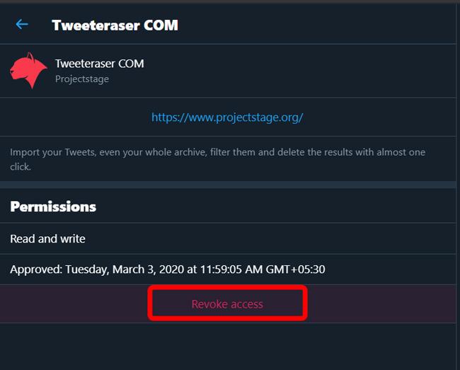 Revoking Access to Tweet Eraser on Twitter