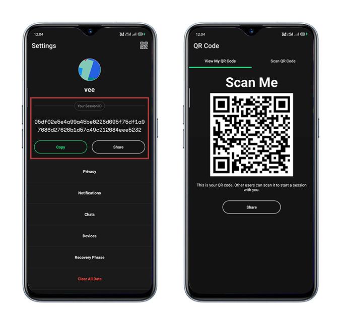 Session Messenger Unique ID