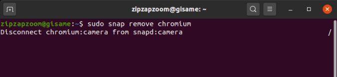 snap_normal_remove - uninstall applications ubuntu