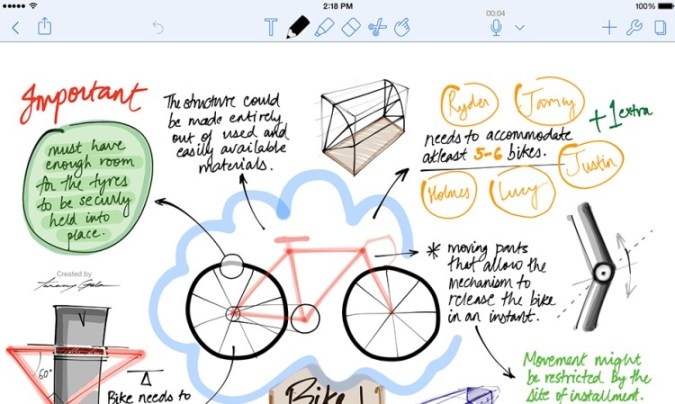 notability handwriting support