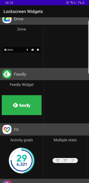 widgets you can add on lockscreen