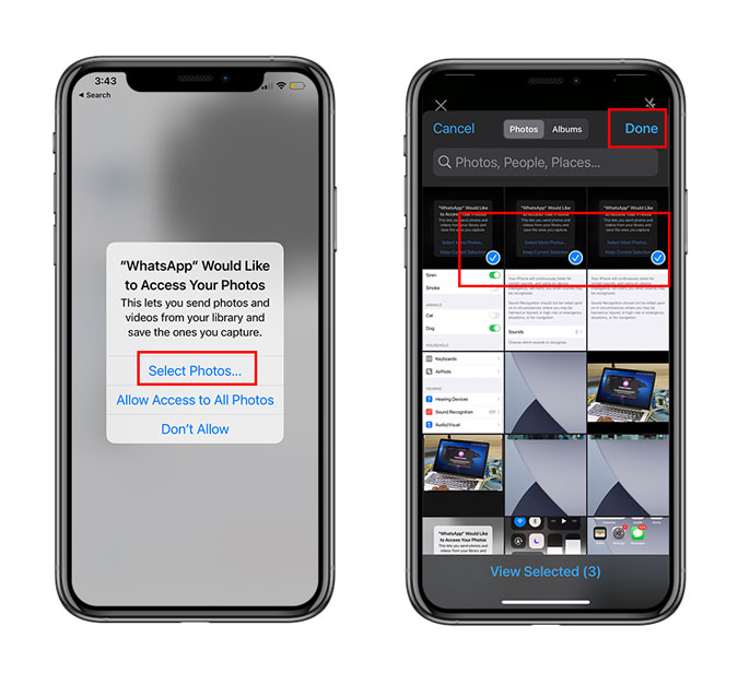 Allow Limited Photo Access on iOS 14