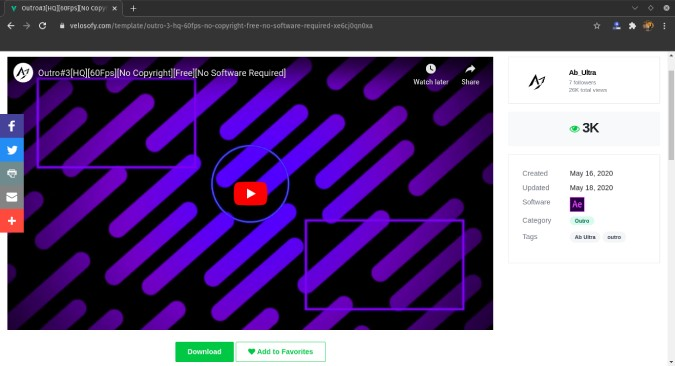 velosofy-ae-youtube-outro-template