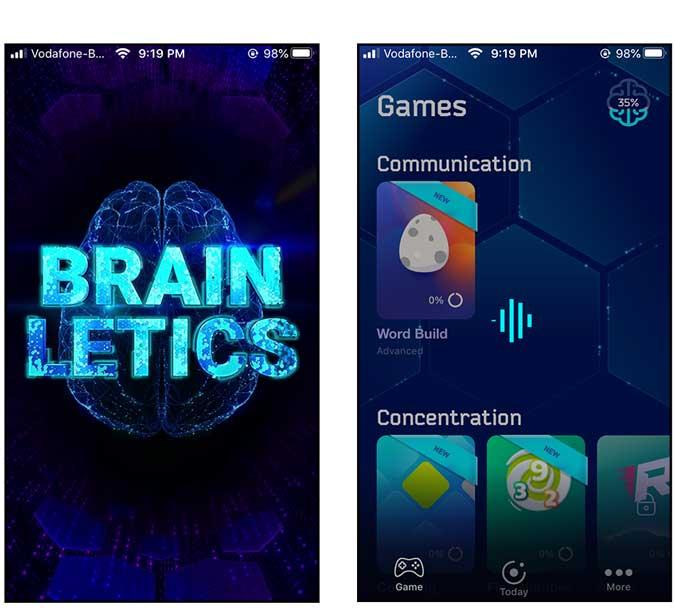 brainletics app screenshot