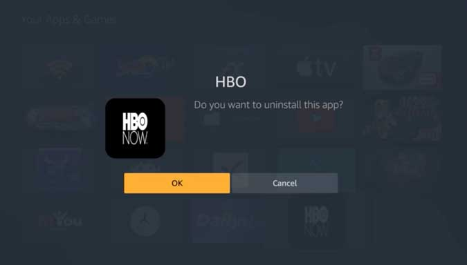 delete other hbo apps