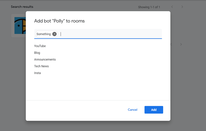 Adding Polly to Rooms in Google Chat