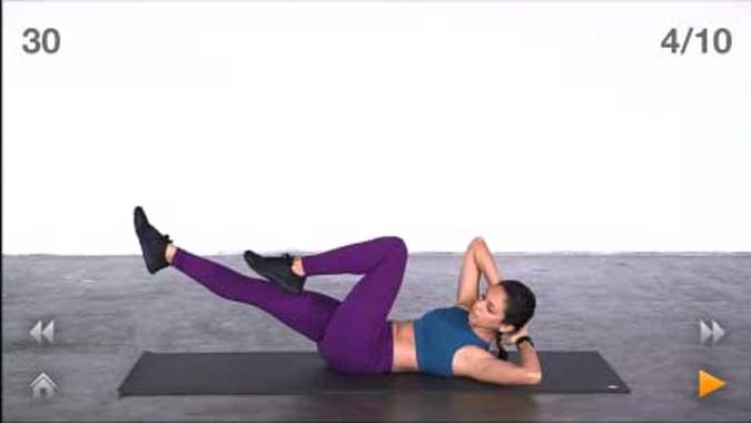 person doing reverse squats