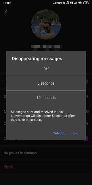 disappearing messages in signal