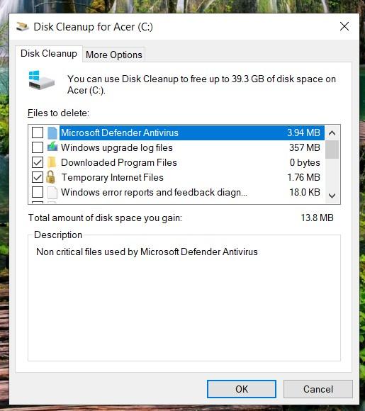 windows system cache list