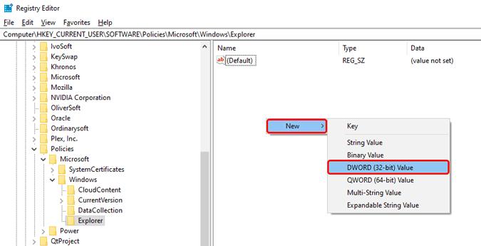 create-new-dword-key-registry-editor