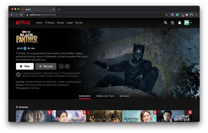 enjoy black panther on netflix