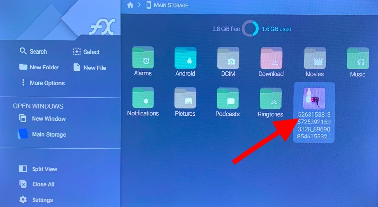 file manager app on Android tv