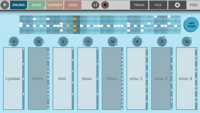 Beatonal beat making ui