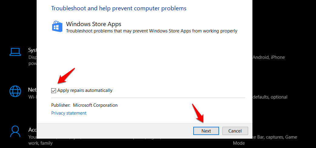 troubleshooting microsoft apps