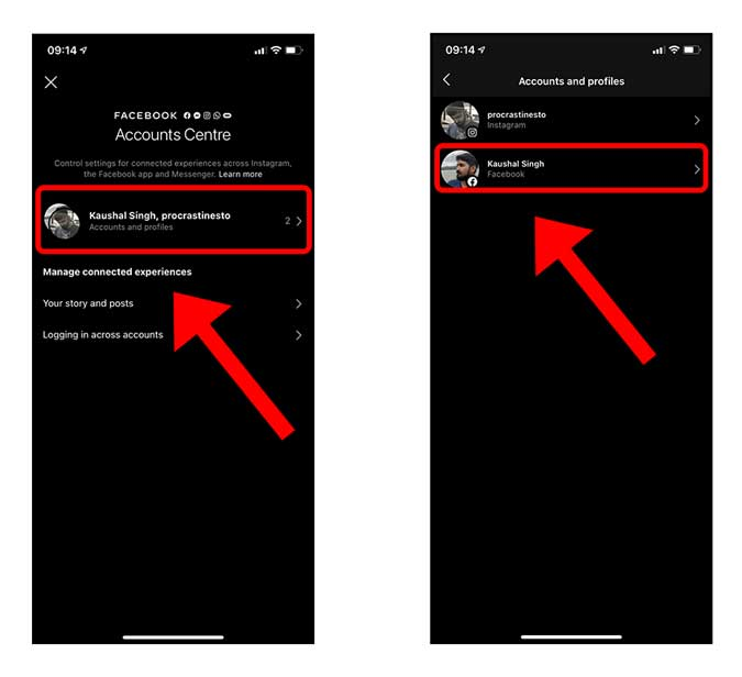 tap profiles to remove
