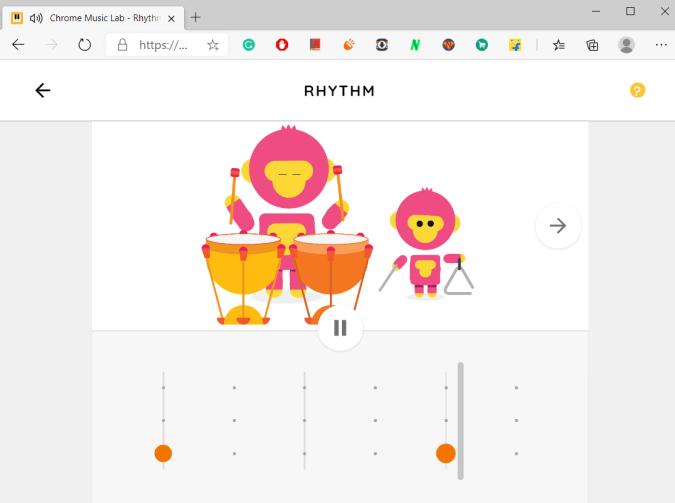 Rhythm in Chrome Music Lab