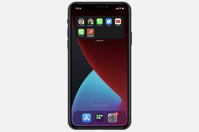 launcher widget app for iphone