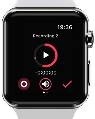 noted app screenshot of Apple Watch