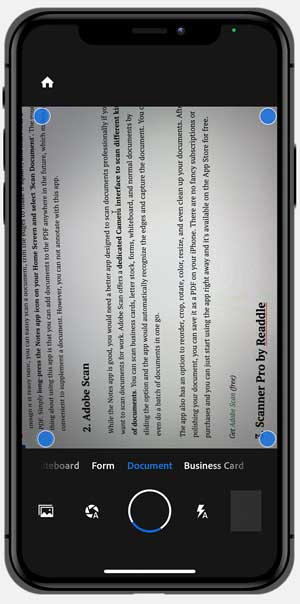 adobe scan - best scanning app