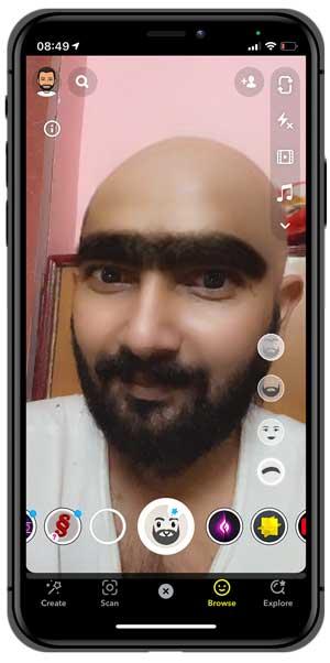 bald lens for snapchat