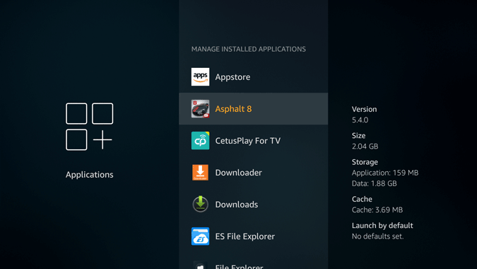 firestick installed apps