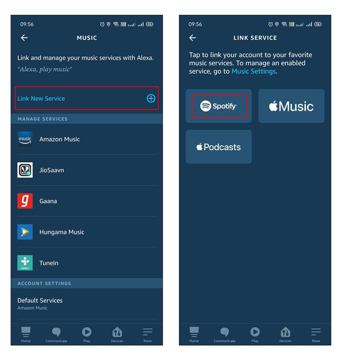 Linking New Service on Alexa