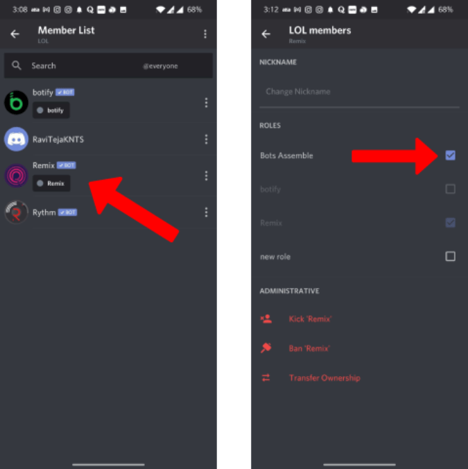 Giving roles to Discord bots