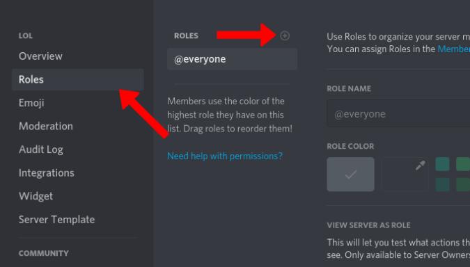 Adding roles in Discord Server