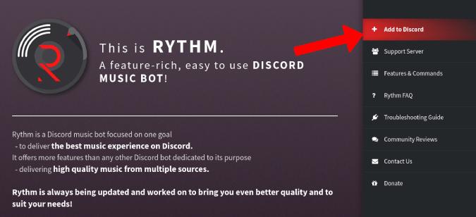 Adding Rythm to Discord